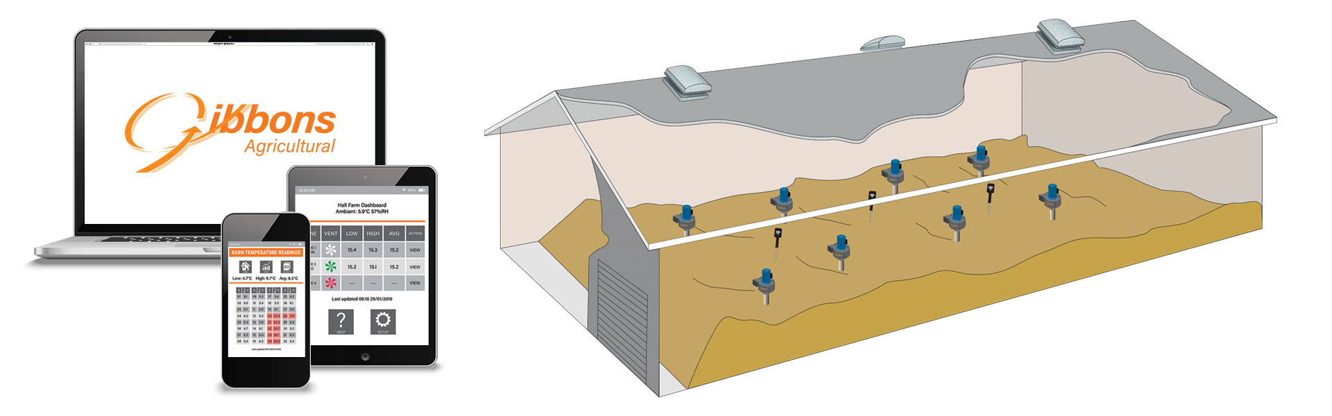 Web based wireless grain cooling