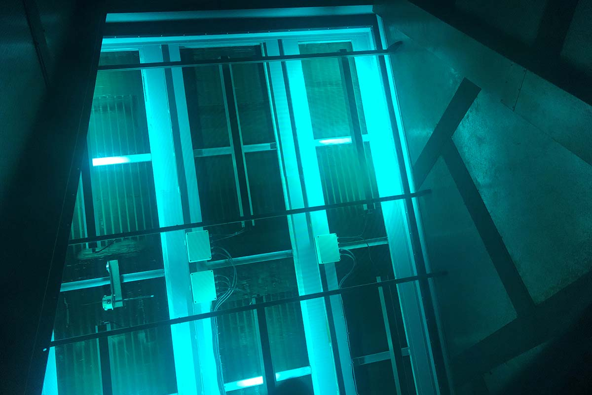 Retrofitting a UVC light system into an Air Handling Unit