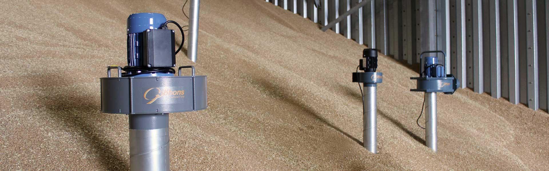 Grain storage fans